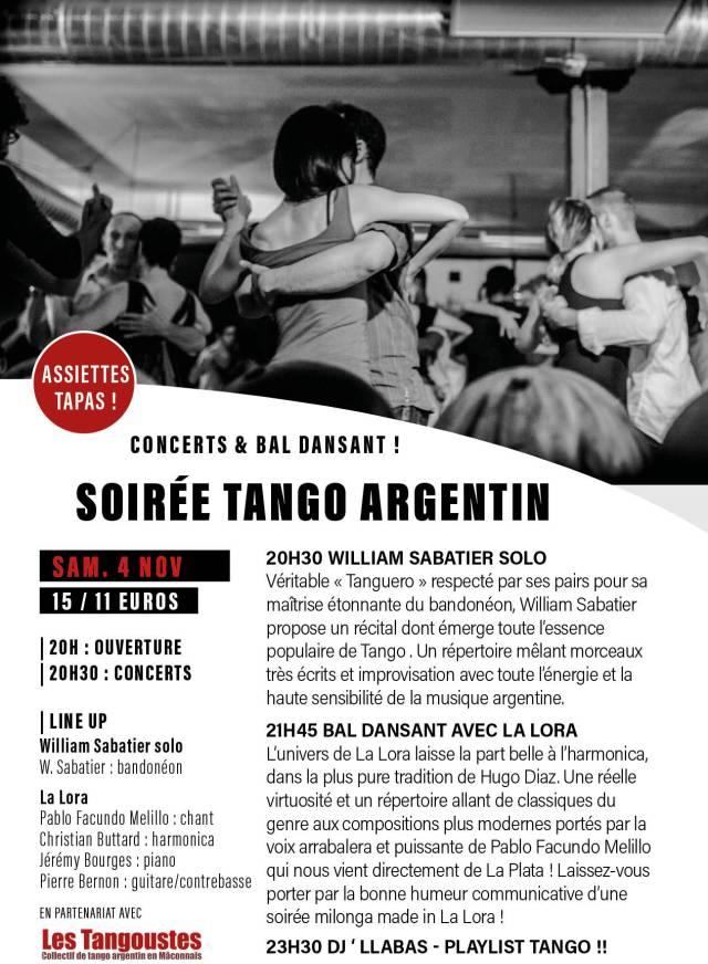 Flyer soiree Tango